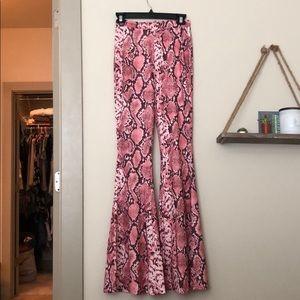 Pink snakeskin pants